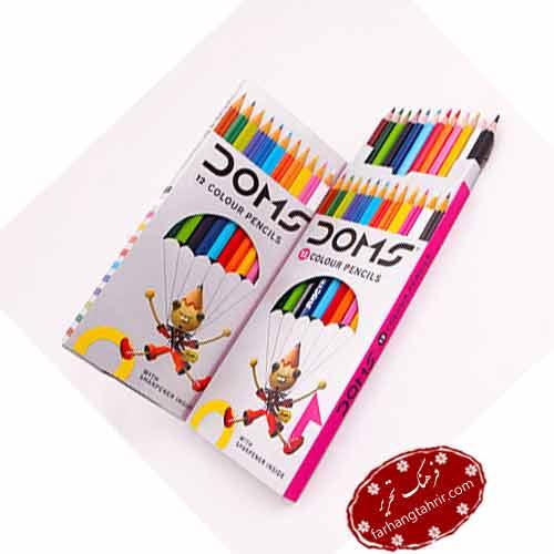 مدادرنگی دامس 12 رنگ جعبه مقوایی