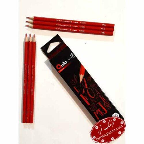 مداد قرمز کویلو 12 عددی Quilo