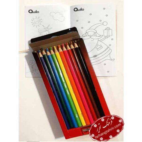 مداد رنگی 12 رنگ کویلو Quilo