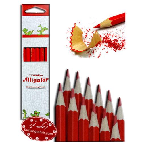 مداد قرمز سوسمار نشان Alligator